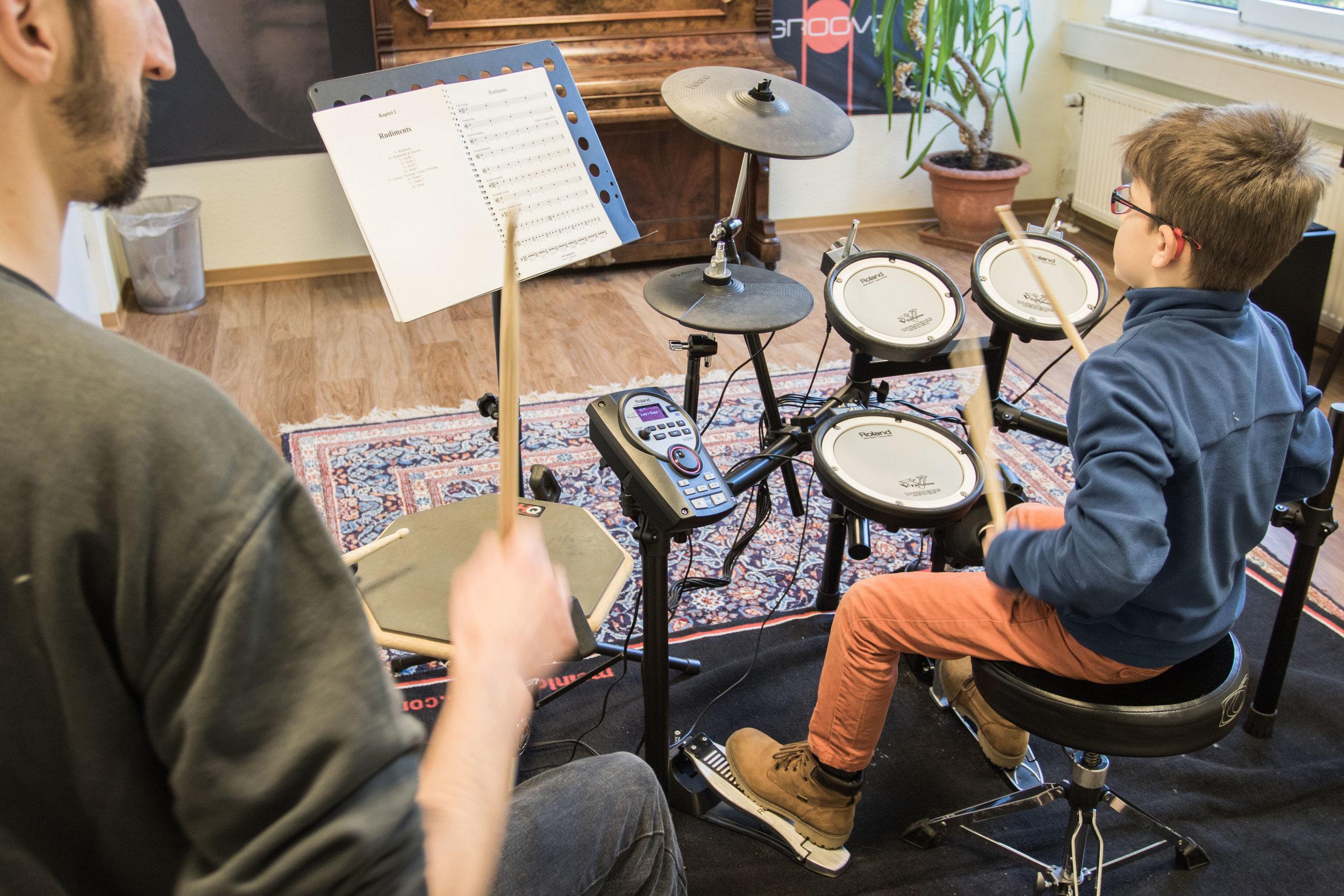 Schlagzeug lernen in der Bonner Musikschule