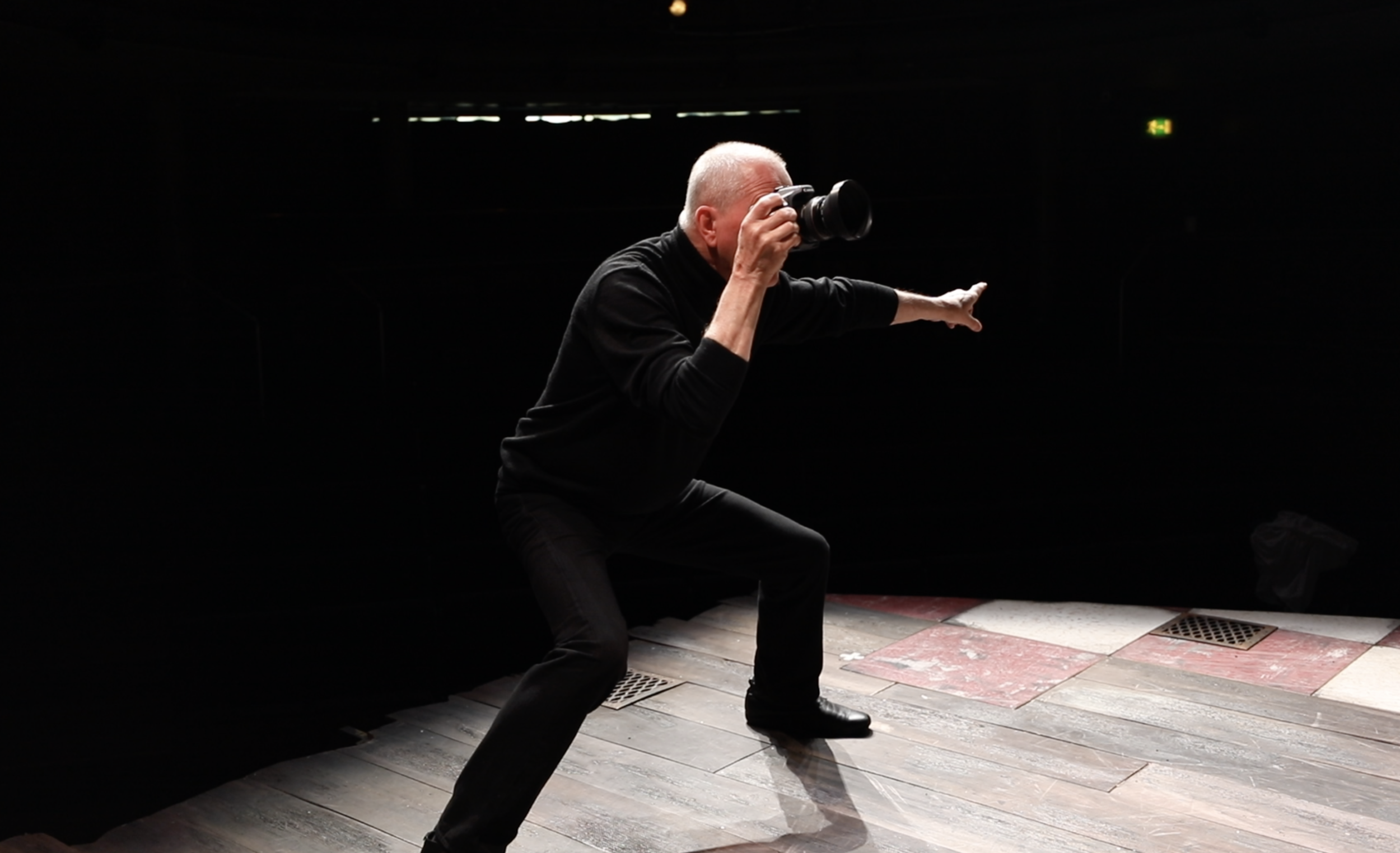 photo: Max Lutoslawski - taken on stage at the Royal Academy of Dramatic Art (RADA) in London