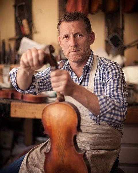 Russell Stowe, owner of Woodbridge Violins. #woodbridgeviolins