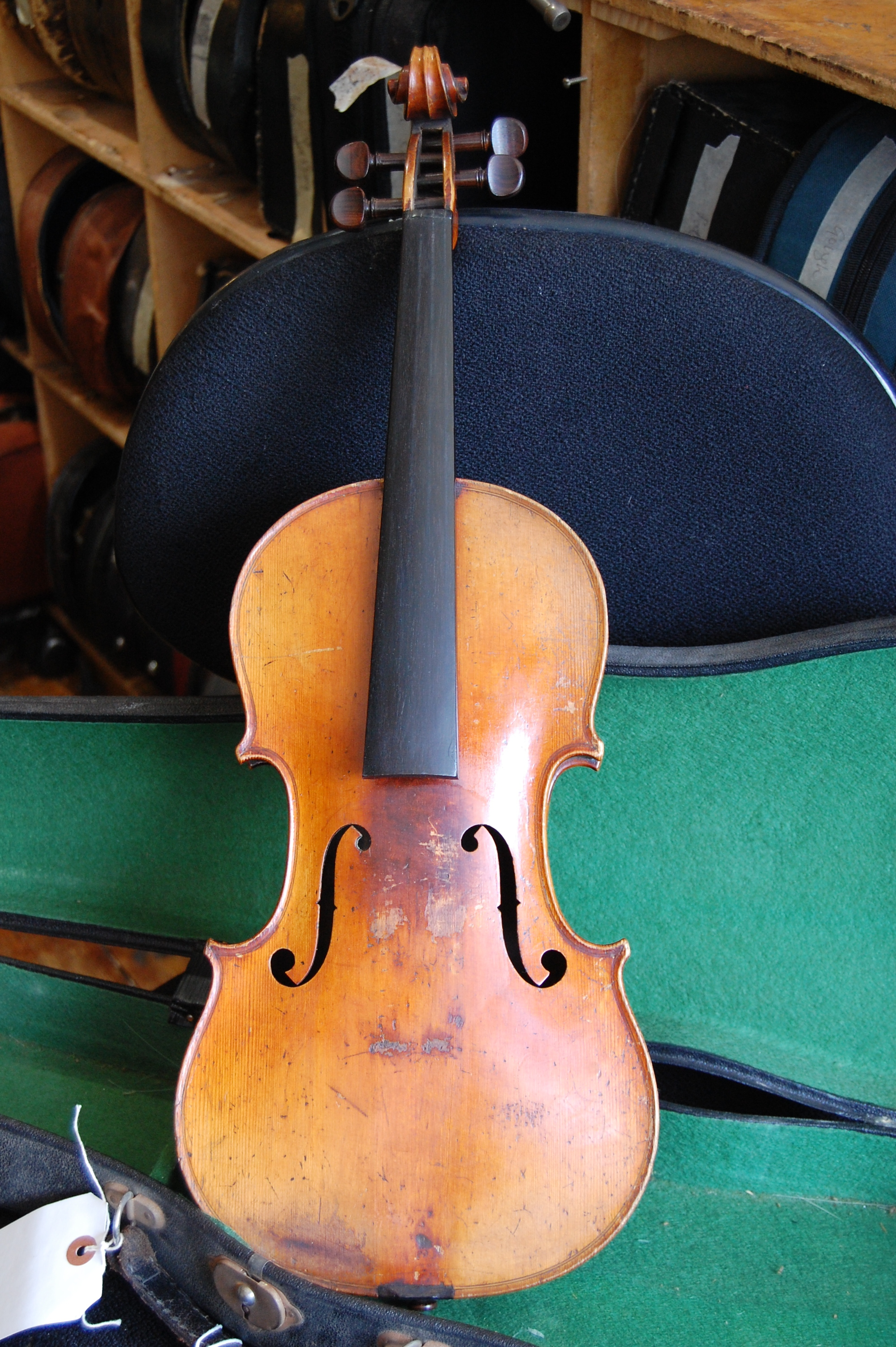 Full size French violin C1880 with case. Price £800 CS004  Condition: Good, needs set up  Tone: N/A  Value for money: 4/5  Overall: 5/5