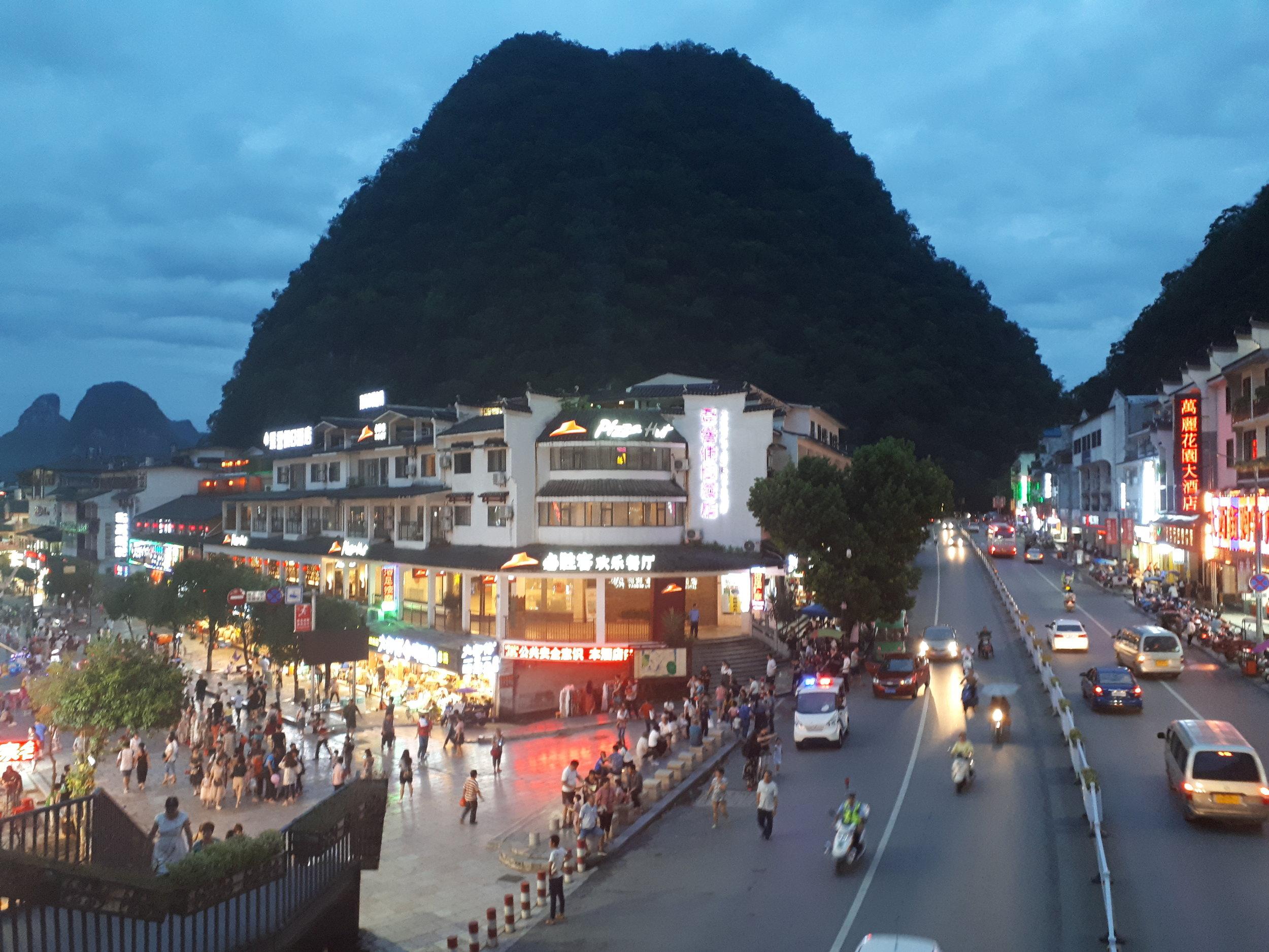 Downtown Yangshuo, China