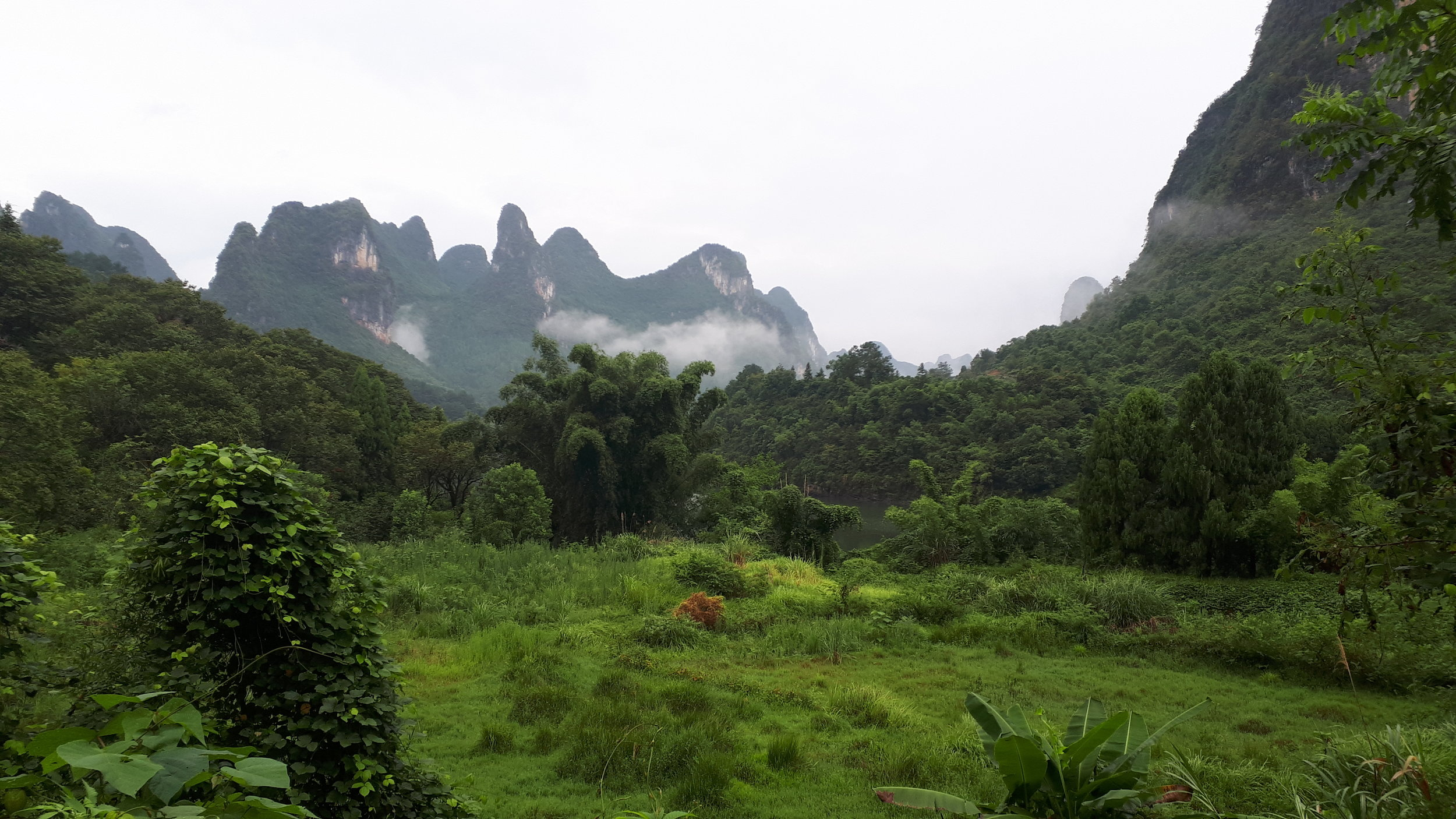 Beautiful landscape near the Lijiang River about 45 minutes from Yangshuo