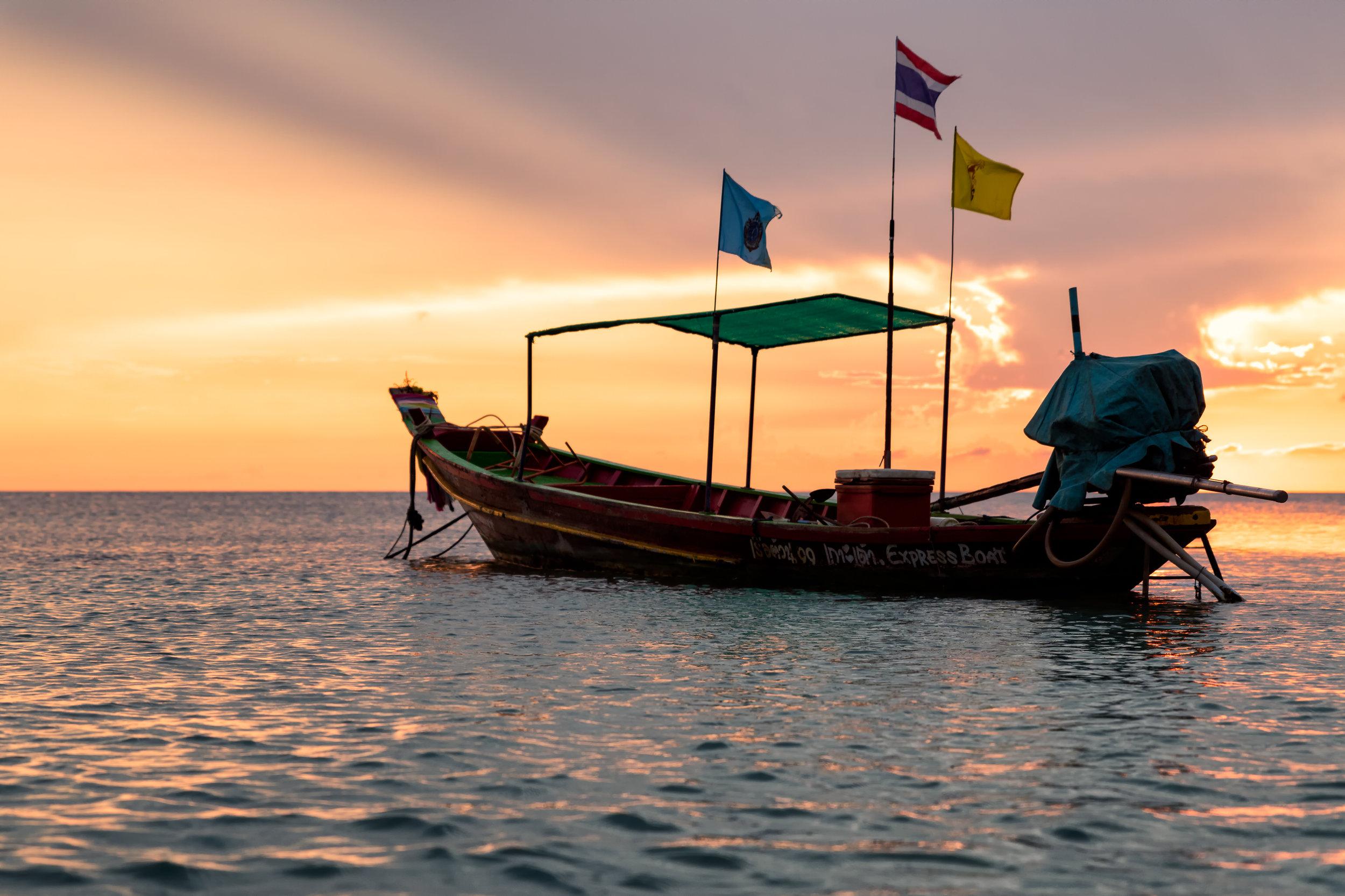 Koh Tao Longtail Sunset