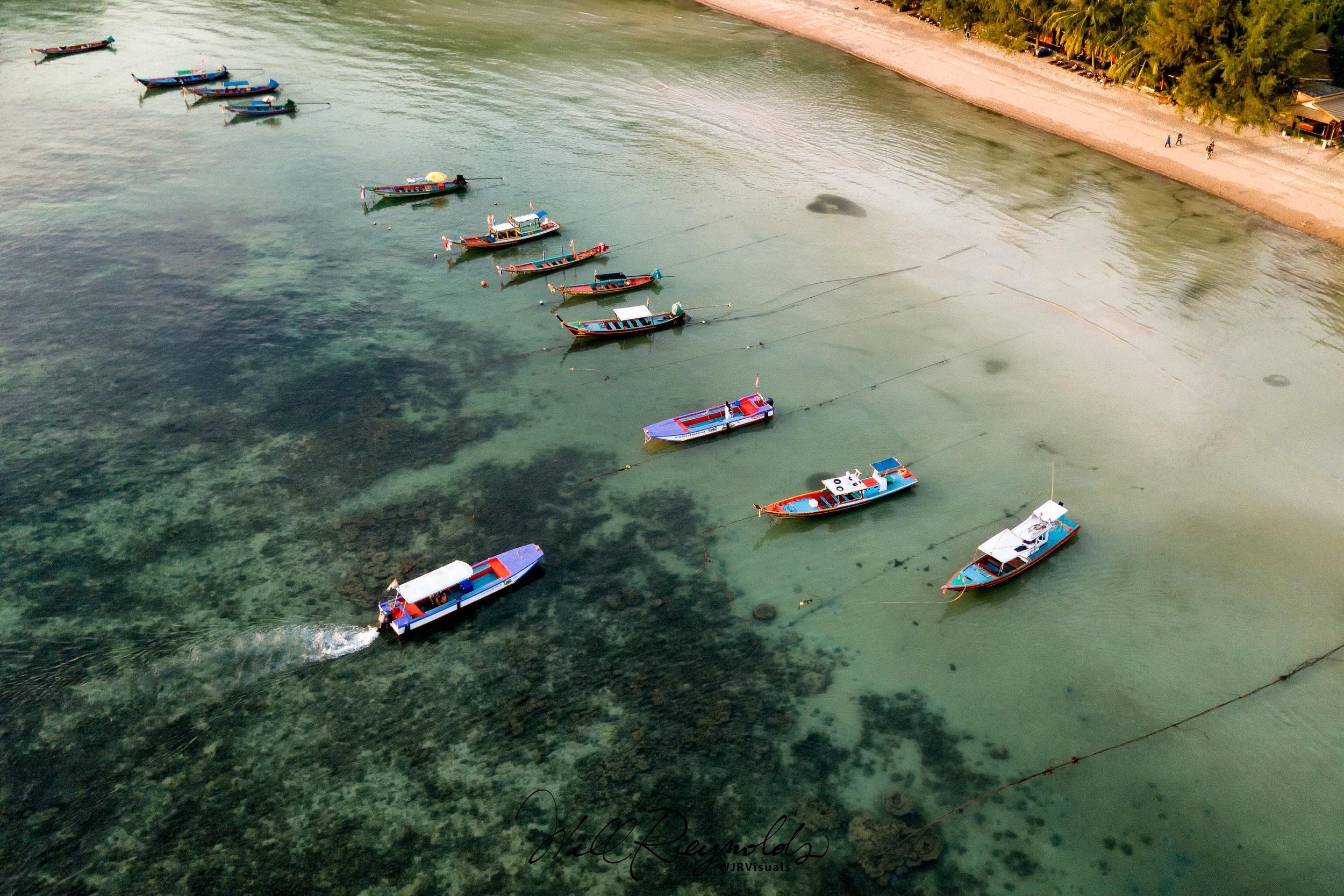 Koh Tao's Sairee Beach - DJI Mavic Pro