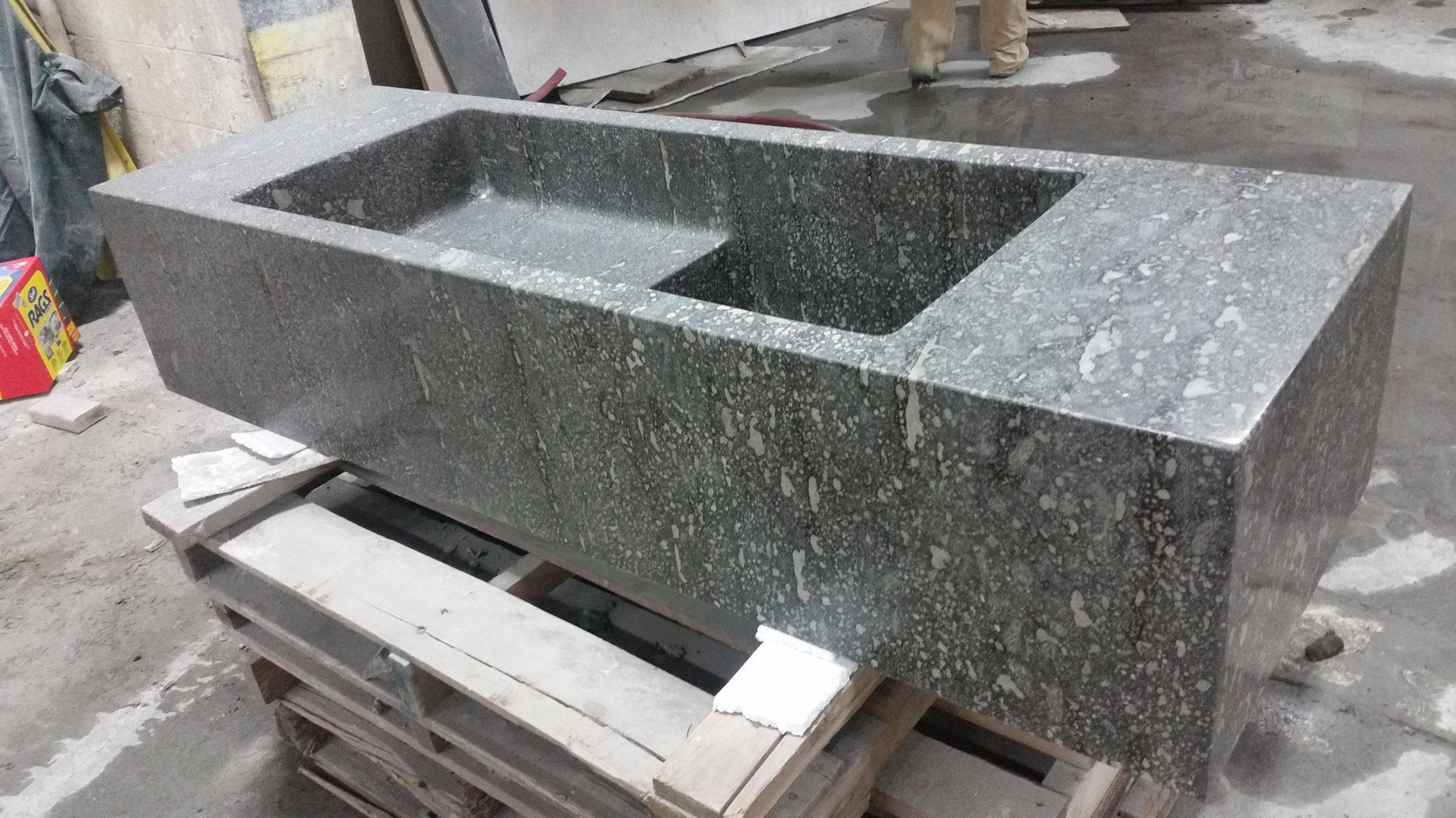 Sculpted Stone Sink