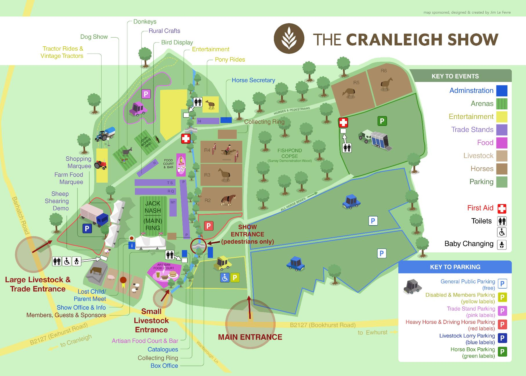 2018 Show Map