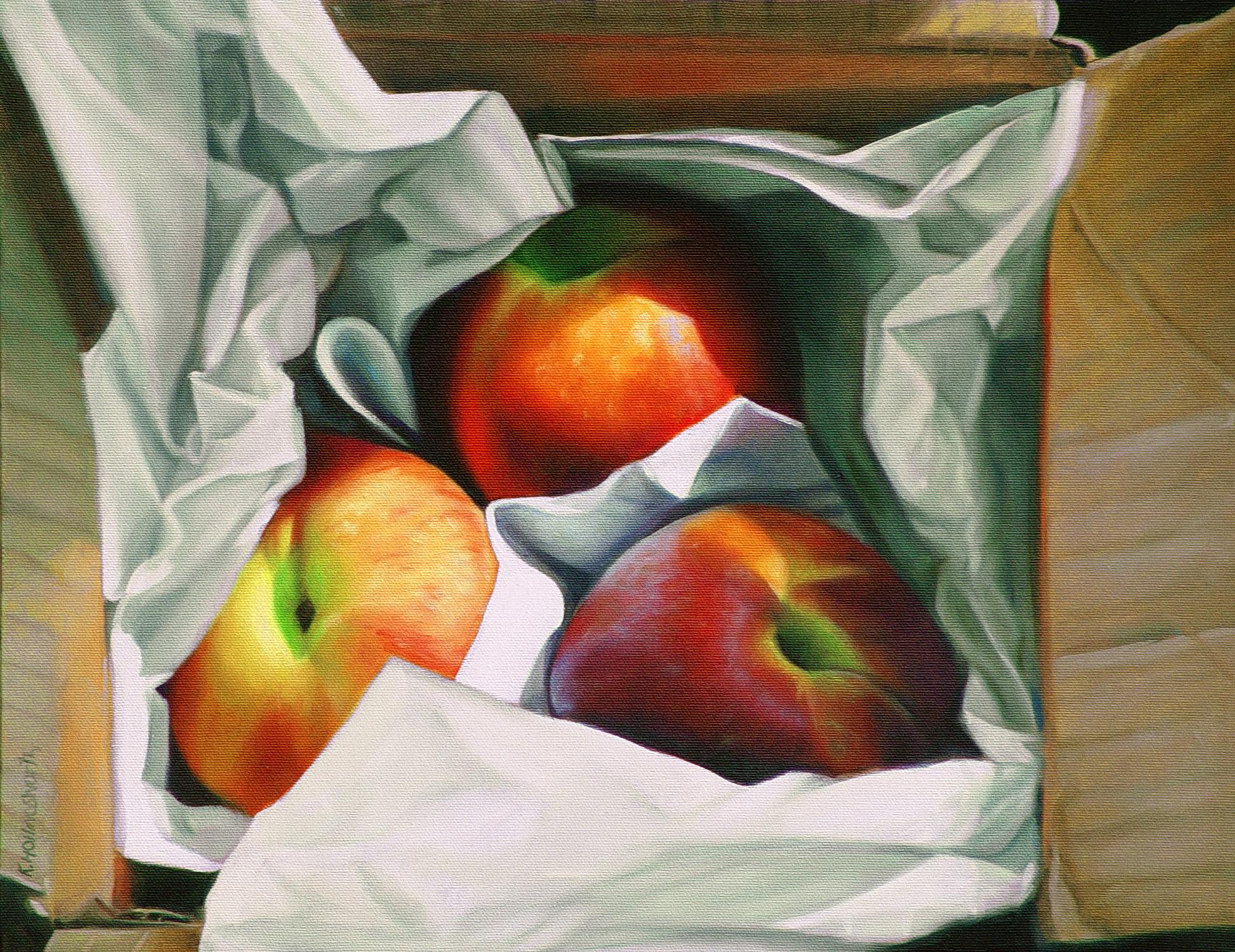 Peaches \ 11 x 14 | Oil on canvas