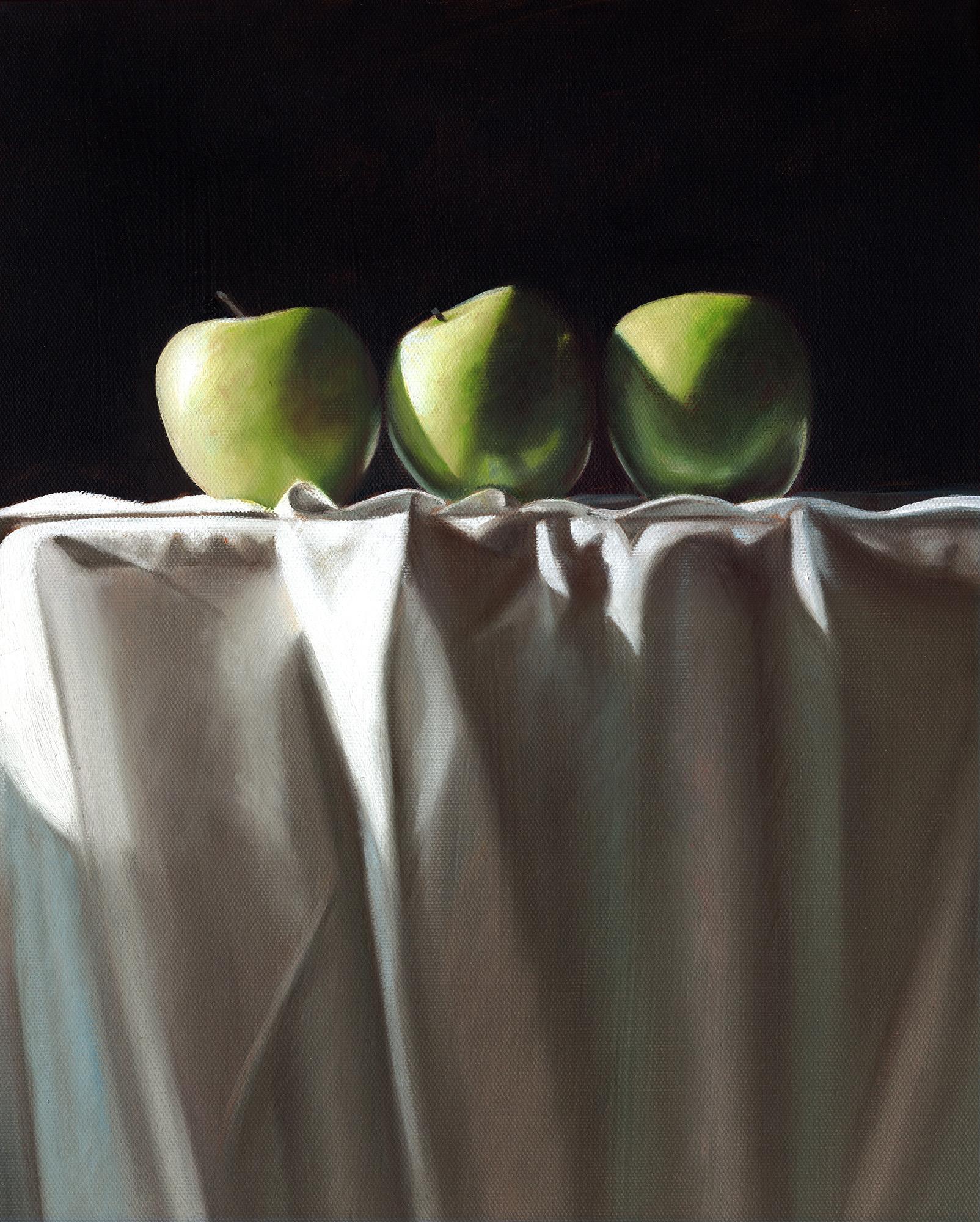 Three Apples | 12 x 16 | Oil on canvas