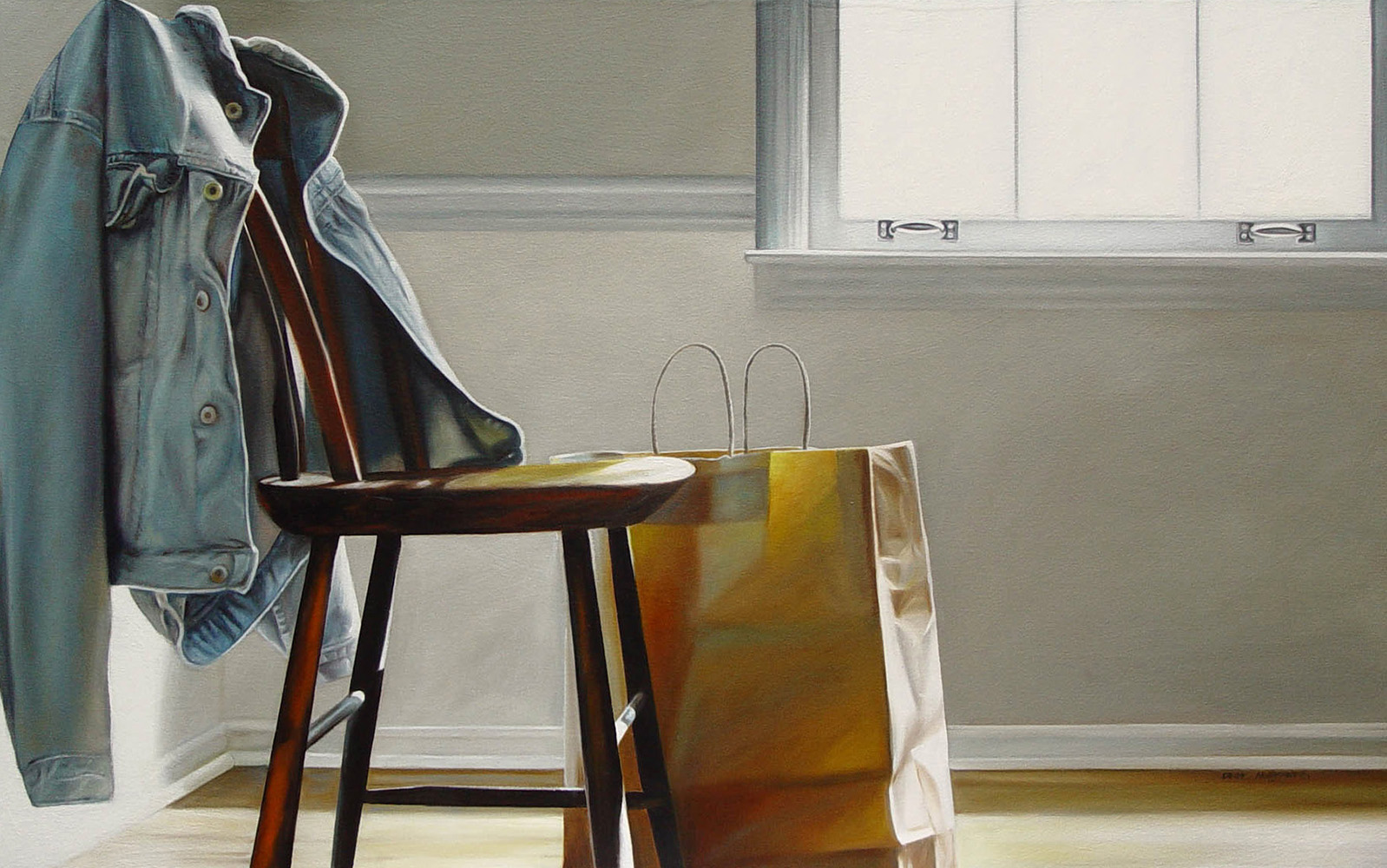 Denim Jacket | 30 x 48 | Oil on canvas