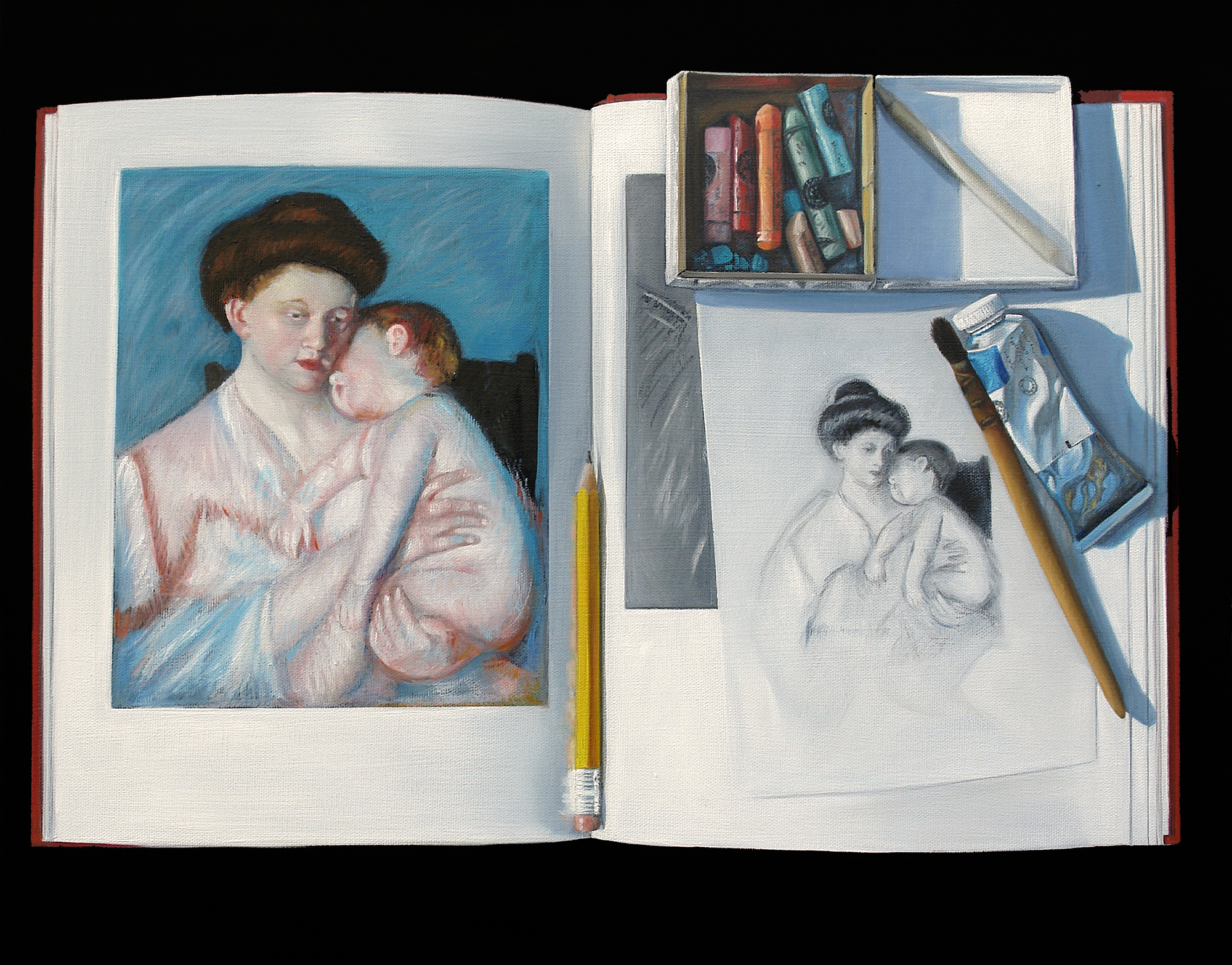 Channeling Mary Cassatte | 16 x 20 | Oil on canvas