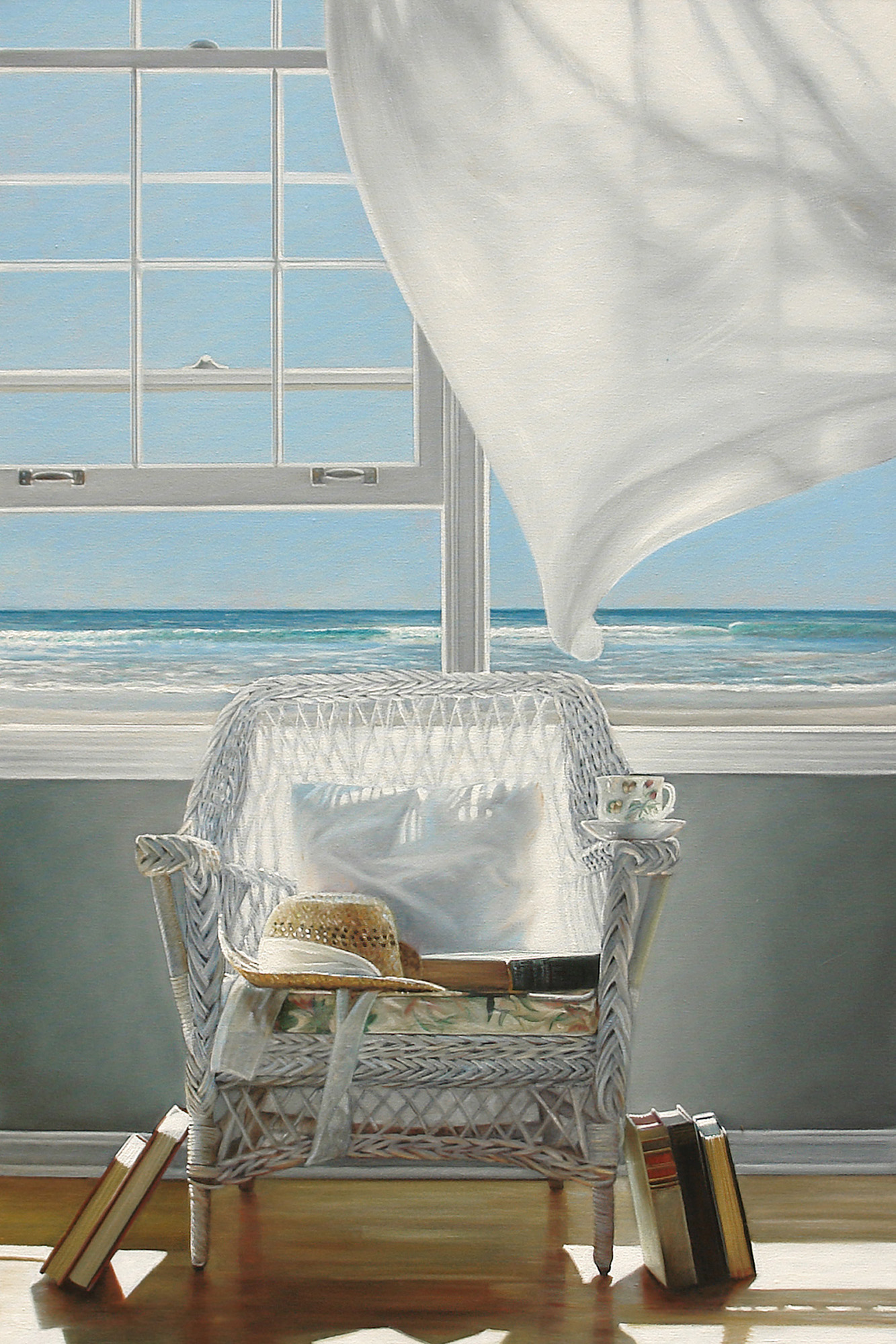 Beach Books  |  24 x 36  |  Oil on canvas