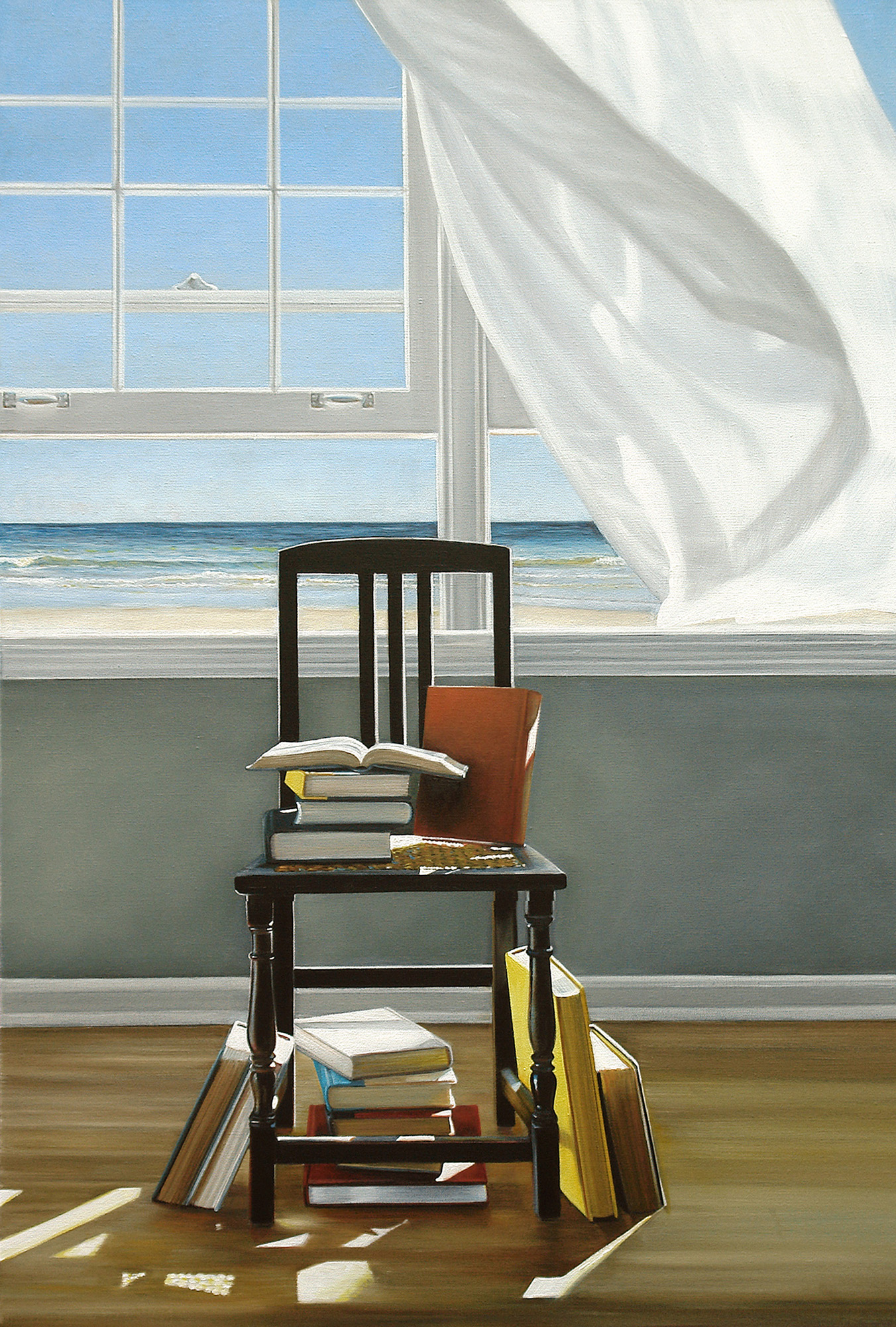 Beach Books No. 2  |  24 x 36  |  Oil on canvas