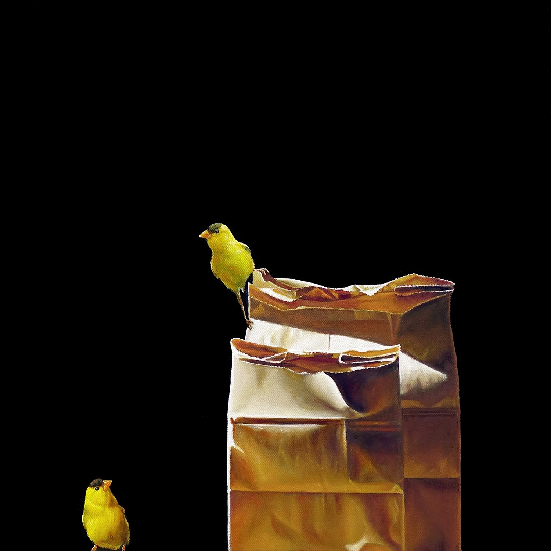 Bird Talk | 20 x 20 | Oil on canvas
