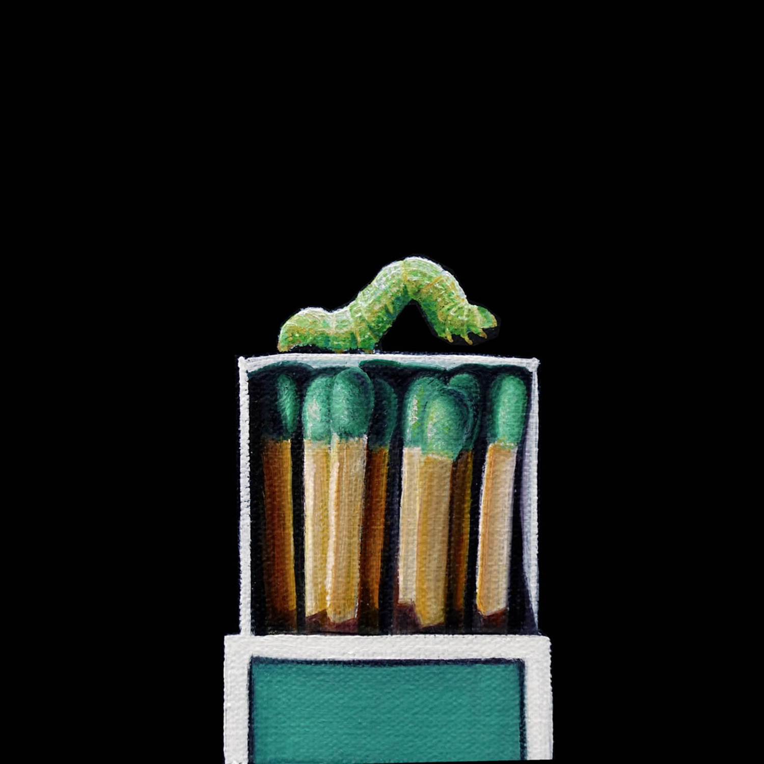 Match Box No. 3   |  6 x 6   |   Oil on canvas