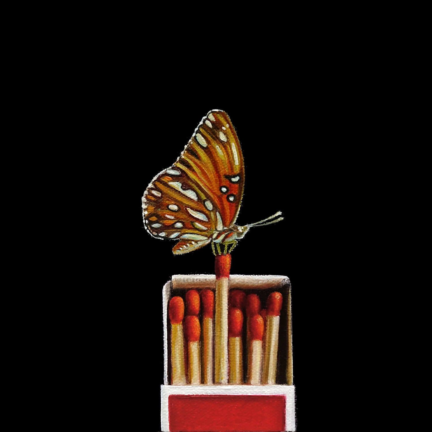 Match Box No. 2   |  7 x 7  |   Oil on canvas