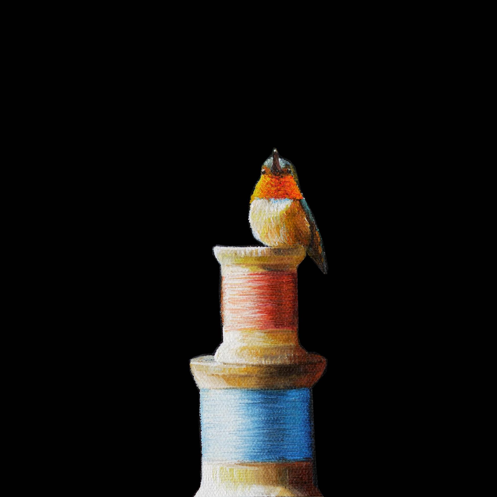 Thread | 7 x 7 | Oil on canvas | SOLD