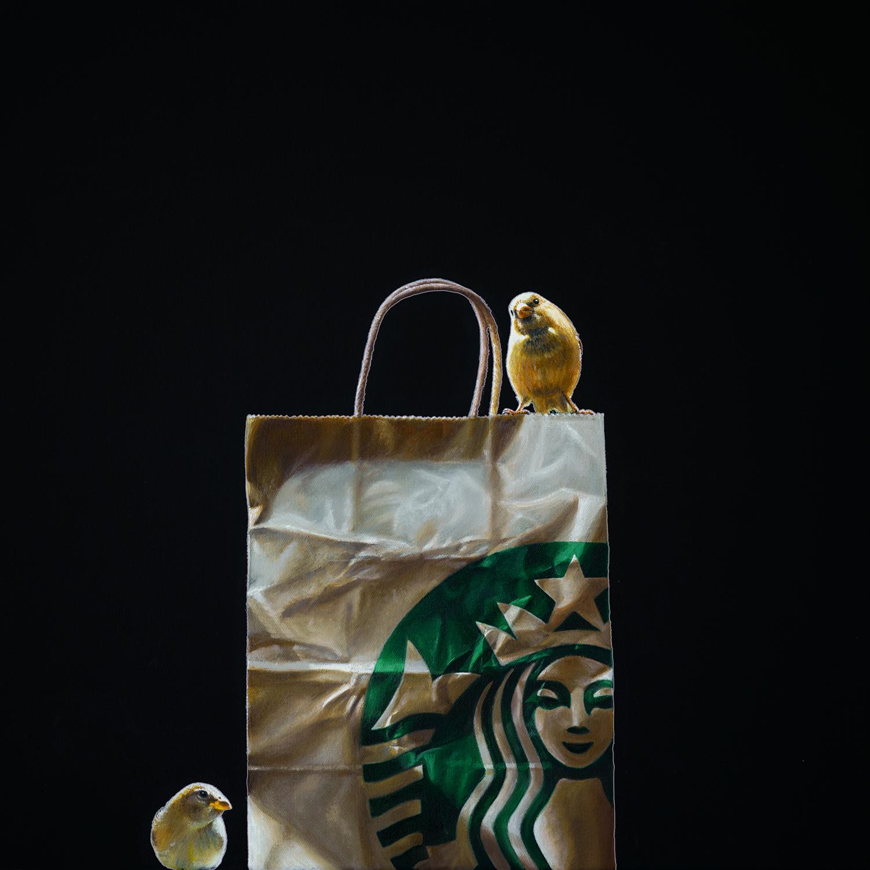 Coffee Break | 18 x 18 | Oil on canvas