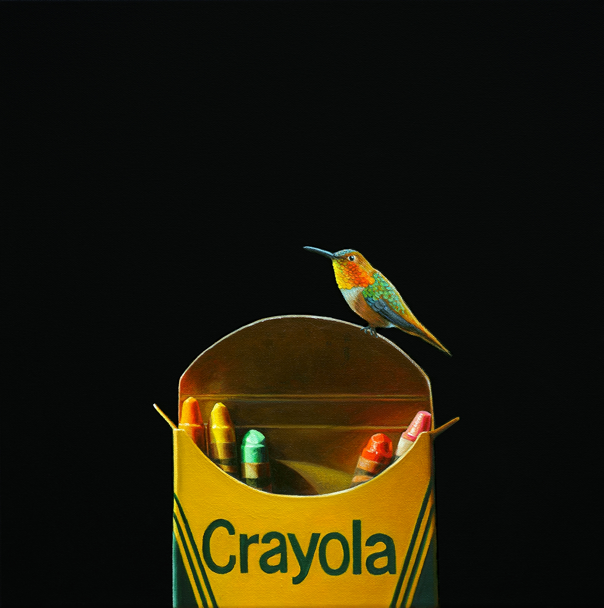 Crayola No. 5 | 16 x 16 | Oil on canvas -  SOLD