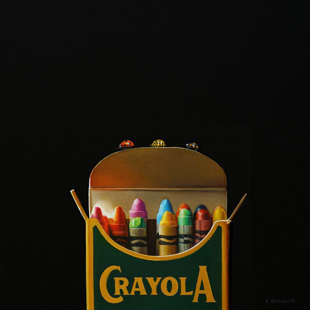Crayola No. 7 | 16 x 16 | Oil on canvas