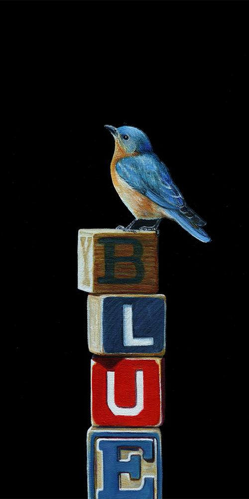 Blue | 8 x 16 | Oil on canvas panel