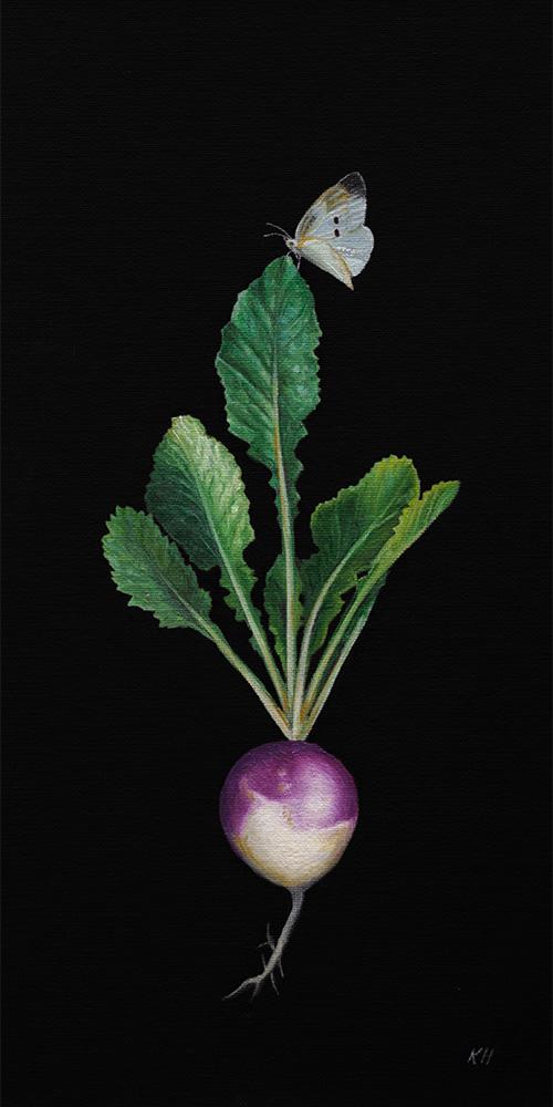 WFPB Turnip  | 8 x 16 | Oil on canvas panel