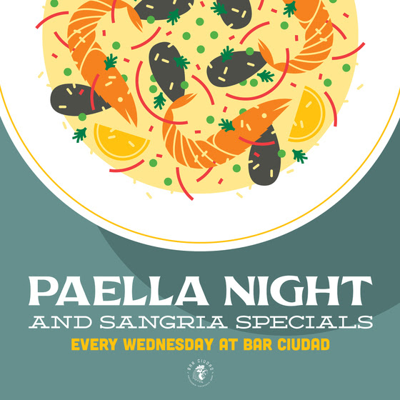 Paella Night - Every Wednesday, 4-10pmChef Joe Bayley fires up his paella pans and passion for the flavors of Spain to create a weekly feast highlighting rice dishes with a rotating selection of meats, seafood and vegetables. Bayley's paella will be available for $10/plate and wine and red sangria for $8/glass.