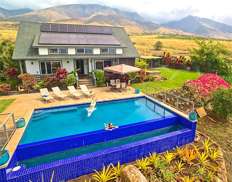 Lahaina Animal Farm  - Maui living at its finest! Our property offers a custom 3 br AgroBnB as a luxury vacation rental. Encompassing 6 unspoiled ocean view acres, our vacation rental an infinity pool with privacy.