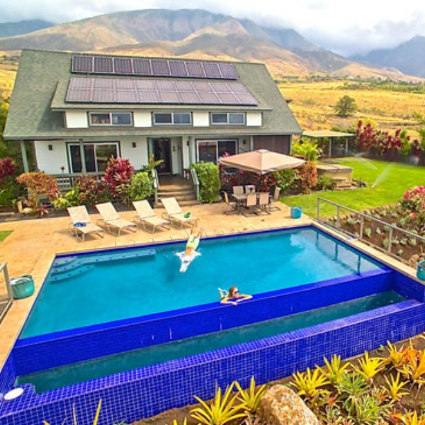 Lahaina Animal Farm  - Maui Living at its finest! Our property offers a custom 3br Farmhouse as a luxury AgroBnB. With 6 ocean view acres, our AgroBnB with an infinity pool offers privacy compared to a resort.