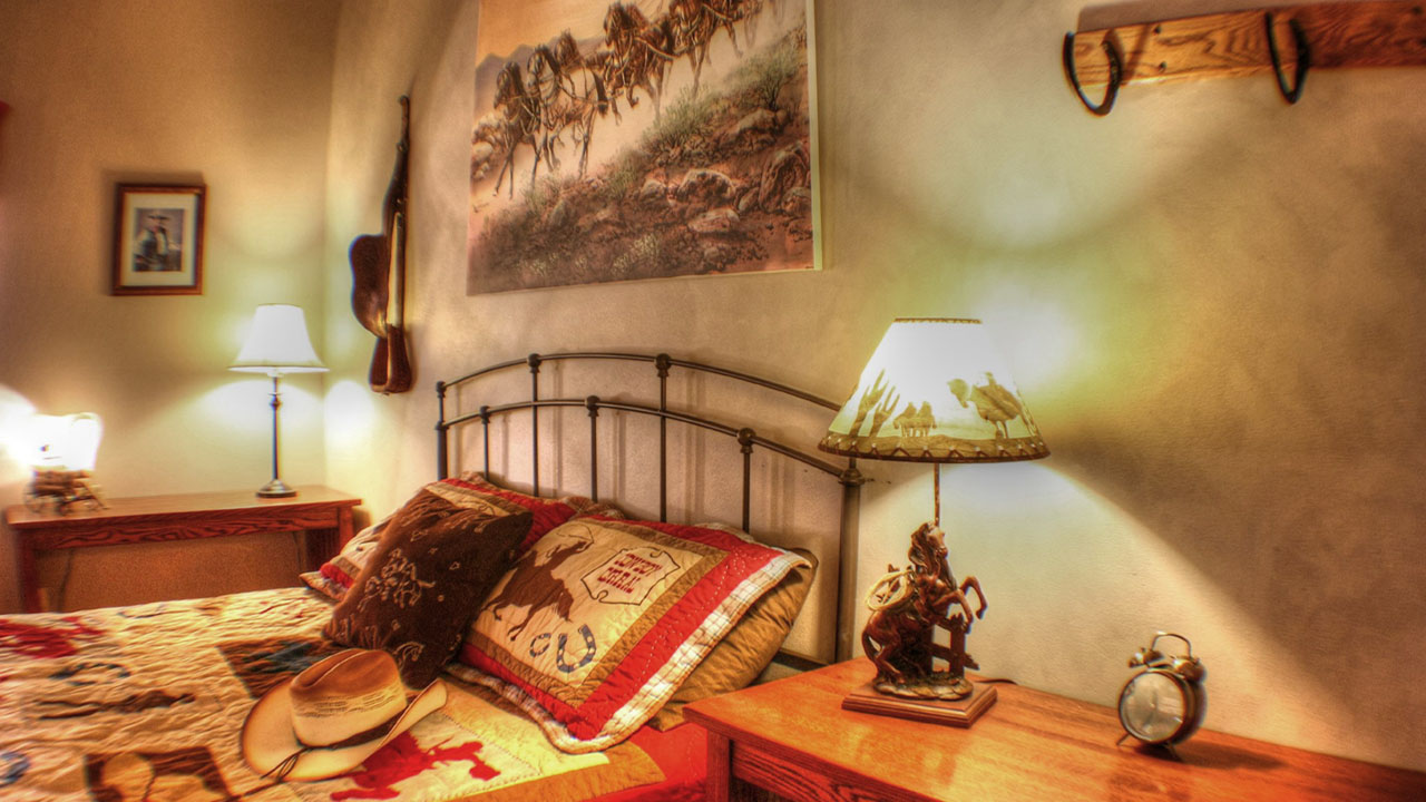 Stagecoach Trails Ranch - Our dude ranch is laid out like a small Western town. There is a main western themed Frontier Lodge with a beautiful courtyard. We can accommodate up to 42 guests at one time.
