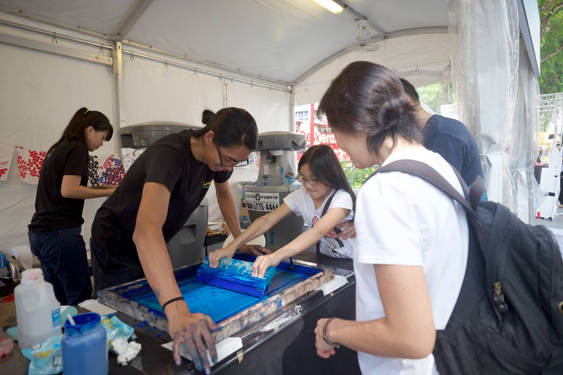Silkscreen booth at SHINE Youth Festival 2016