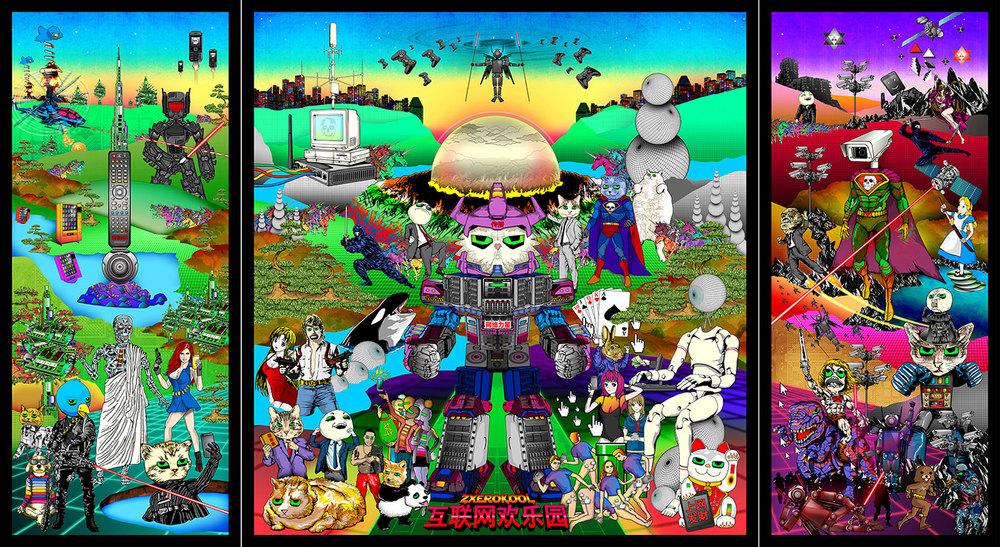 Zxerokool's 'The Garden of Internet Delights'.