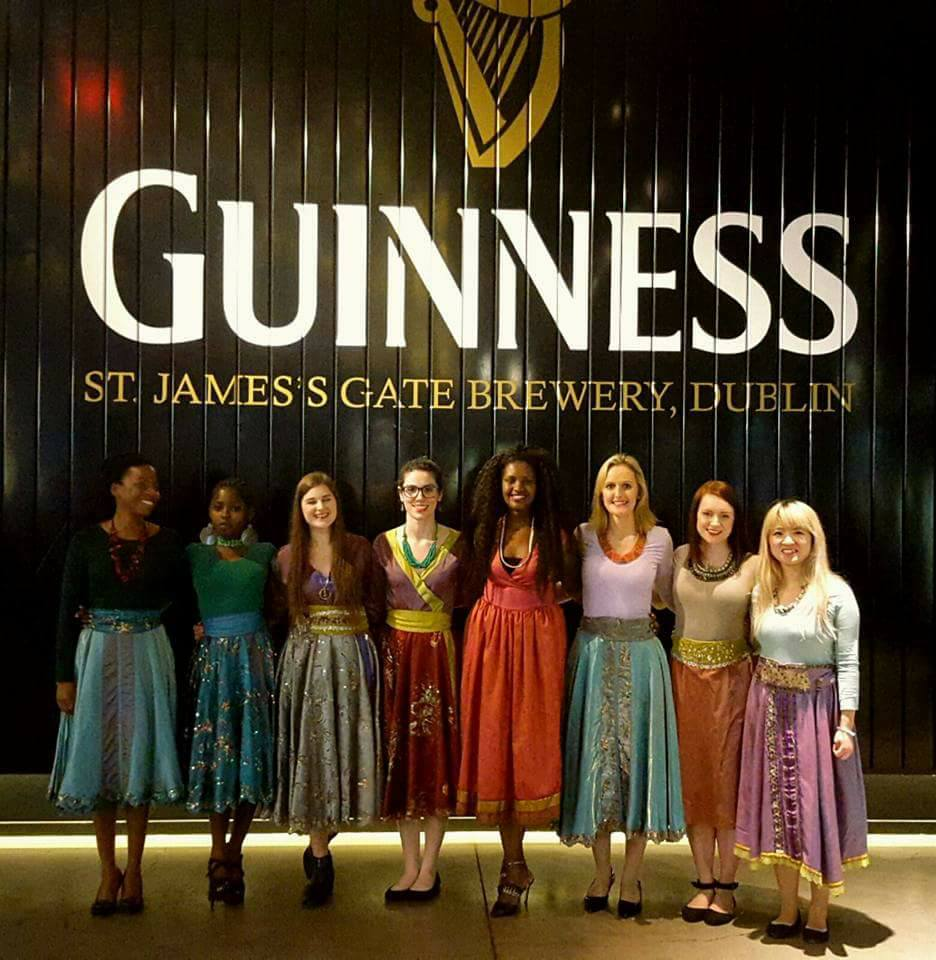 Emma with Discovery Gospel Choir at the Guinness Storehouse, Dublin