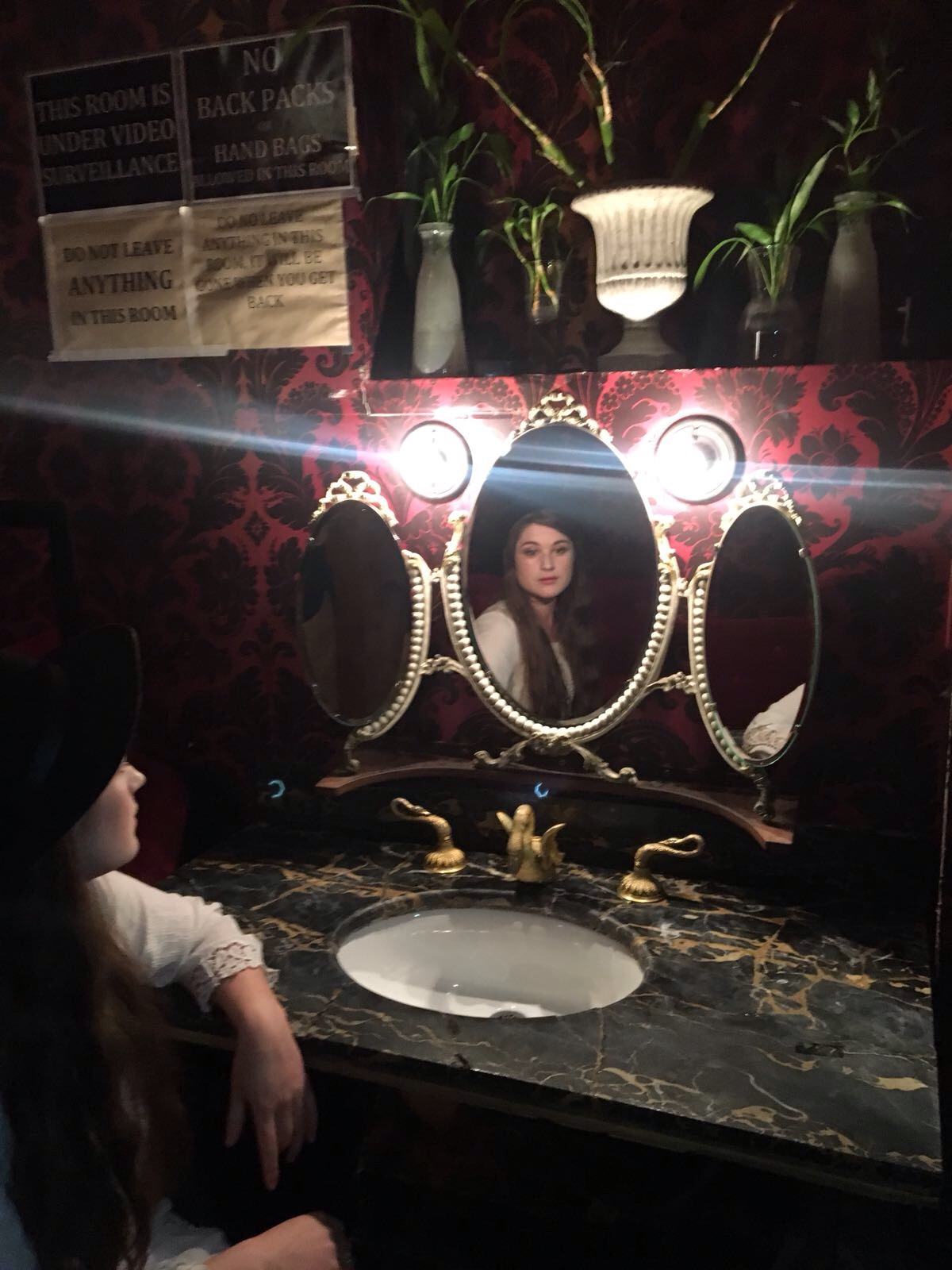 Hanging out in Rockwood Music hall ahead of the interview. (That sink really works, by the way. Wonders never cease!)