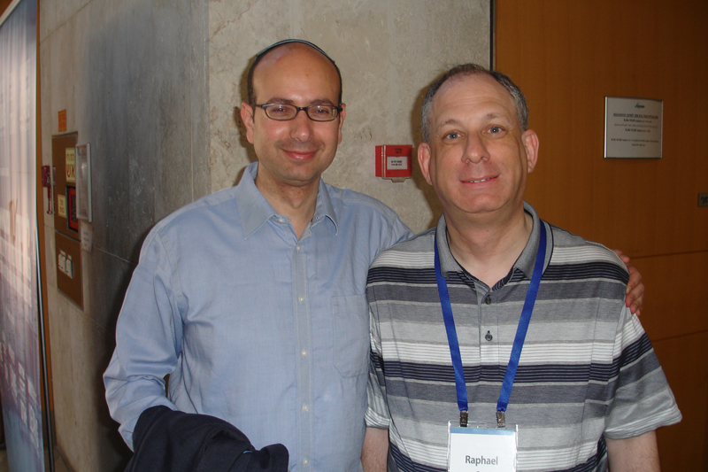 The Two Rafis - Raphael Gee (R) and Rafi Zarum (L) at Limmud Tel Aviv, 2015