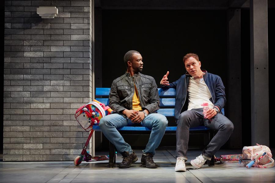Daon Broni (Nick), Daniel Lapaine (Sam) - Holy Sh!t at the Kiln Theatre. Photo by Mark Douet.jpg