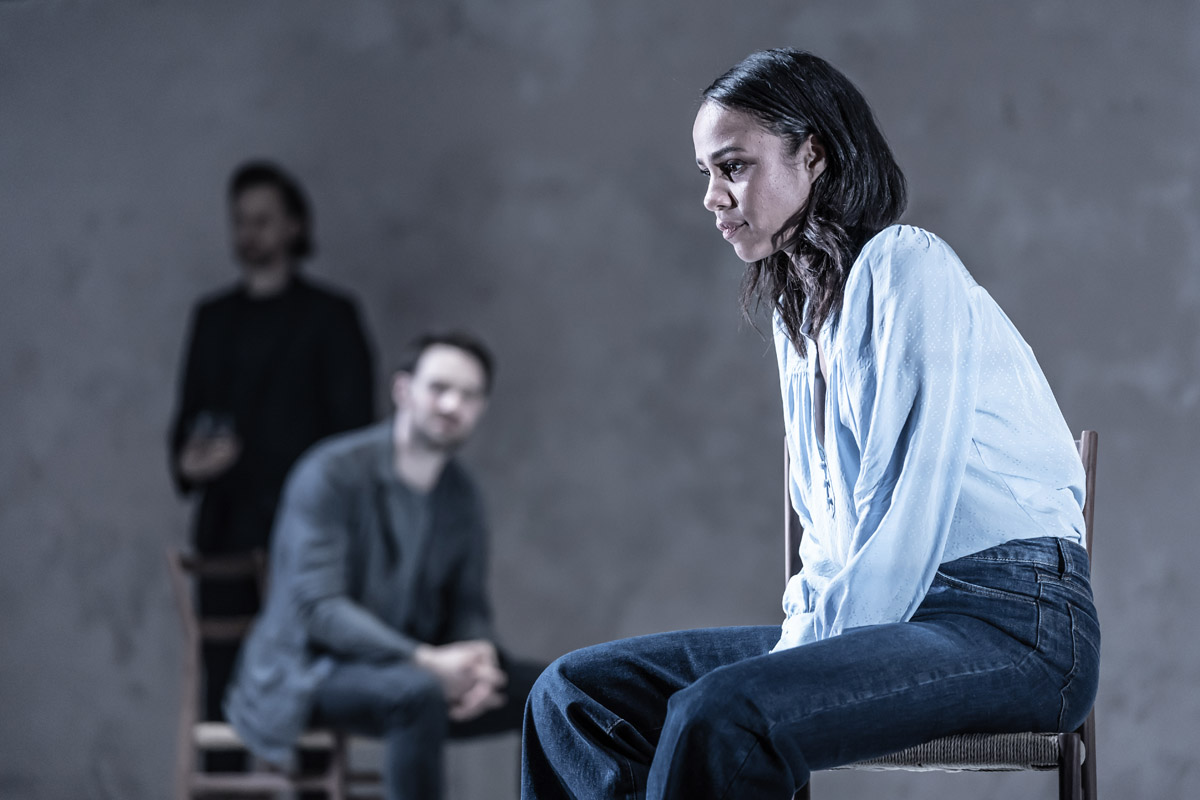 Tom Hiddleston (Robert), Charlie Cox (Jerry) and Zawe Ashton (Emma) in 'Betrayal' directed by Jamie Lloyd.  Photo credit Marc Brenner.jpg