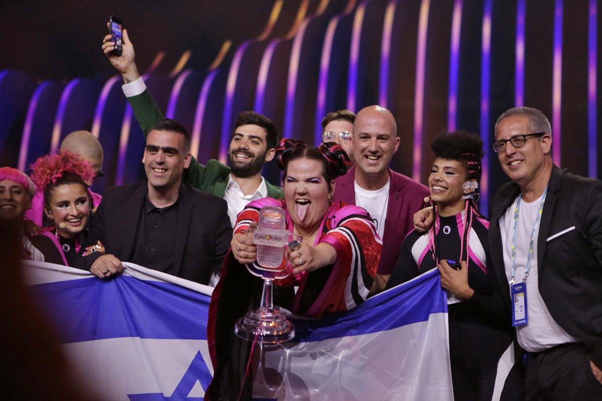 Netta (Israel) winning Eurovision 2018 © Thomas Hanses