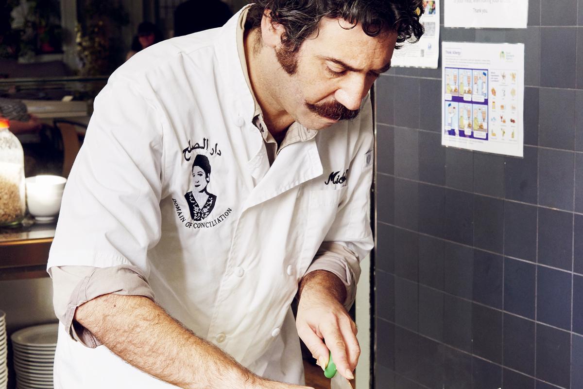 Michael Rakowitz in the kitchen © Joe Woodhouse