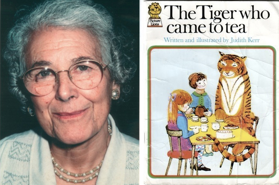 Judith Kerr © Matthew Kneale; The Tiger Who Came to Tea first edition