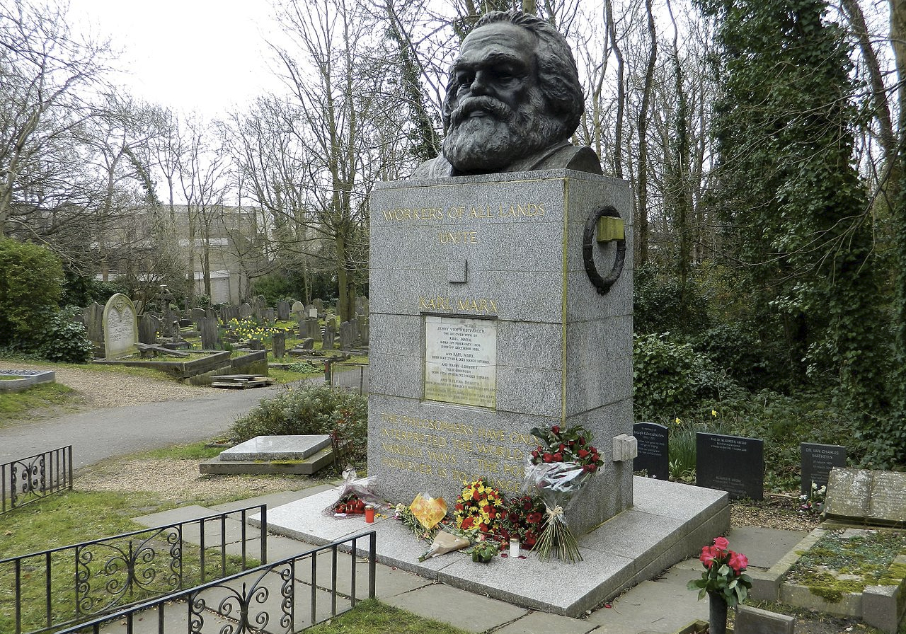 Jewish Highgate, Karl Marx, Highgate Cemetery.jpg