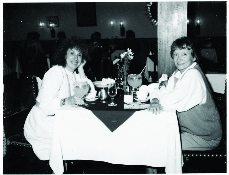 Odile Crick and Elaine in Mexico. Elaine rented the Cricks' house in Cambridge. Courtesy of Elaine Feinstein