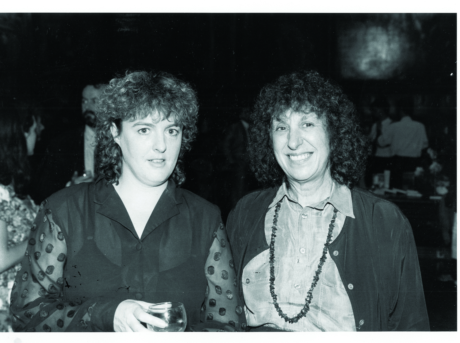 Elaine and her friend the poet Carol Ann Duffy me his Trinity rooms for my birthday party. Courtesy of Elaine Feinstein