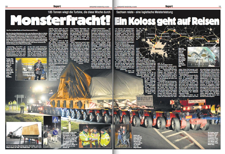 Morgenpost am Sonntag, 2.12.2012.