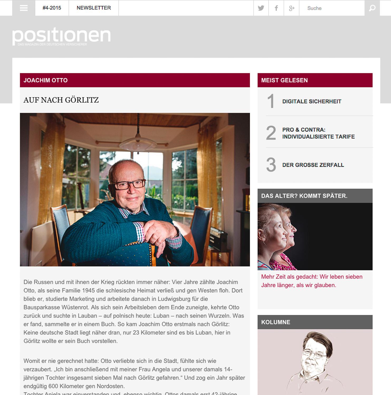 #4-2015 Positionen. Das Magazin der deutschen Versicherer.