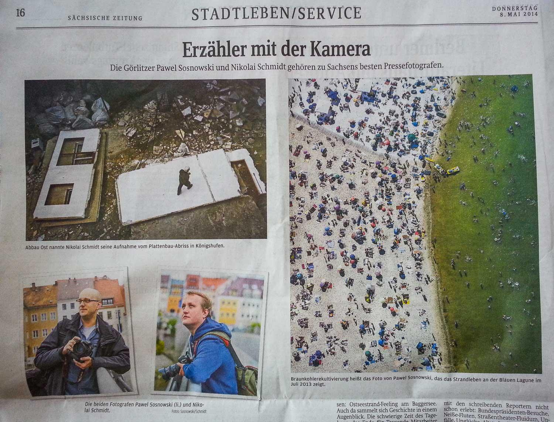 Sächsische Zeitung, Ausgabe Görlitz, 8.05.2014.