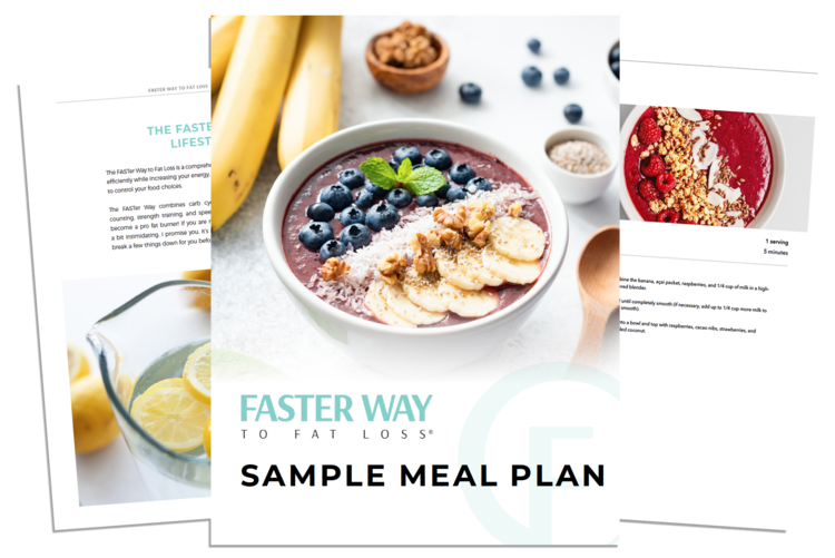 """Download our FREE Intermittent Fasting Guide and Sample Meal Plan! - Enter your email address below and get a """"taste"""" of the FASTer Way!"""