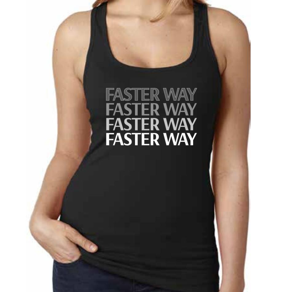 - FASTer Way Spandex Jersey Racerback Tank