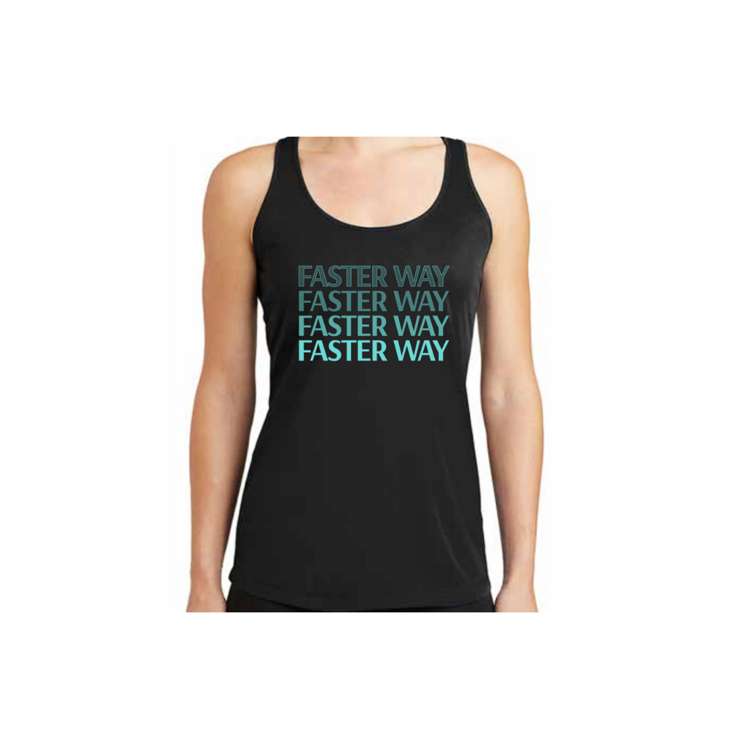 - FASTer Way Black Tank Top