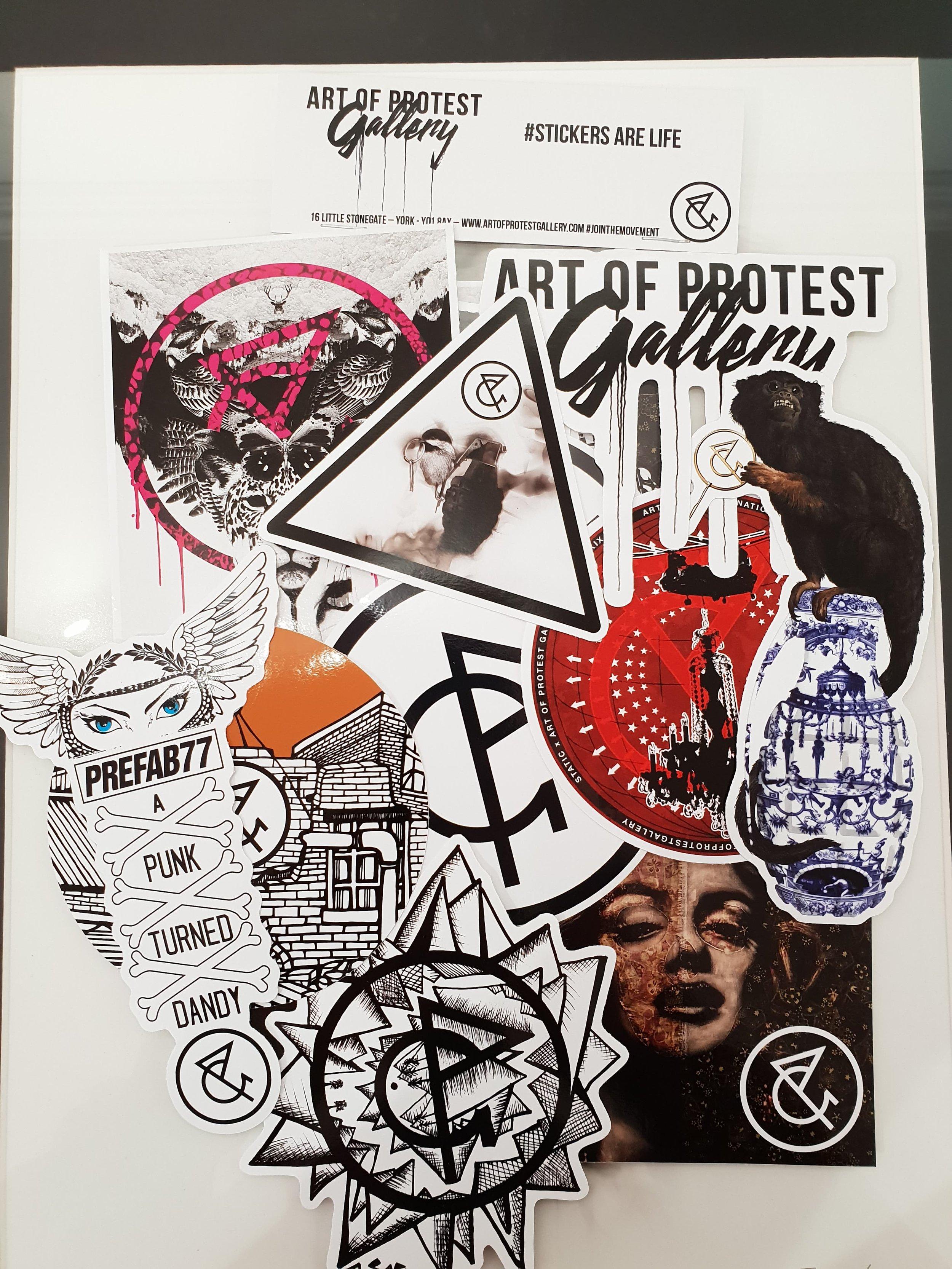 Art of Protest Gallery Sticker Pack #stickersarelife