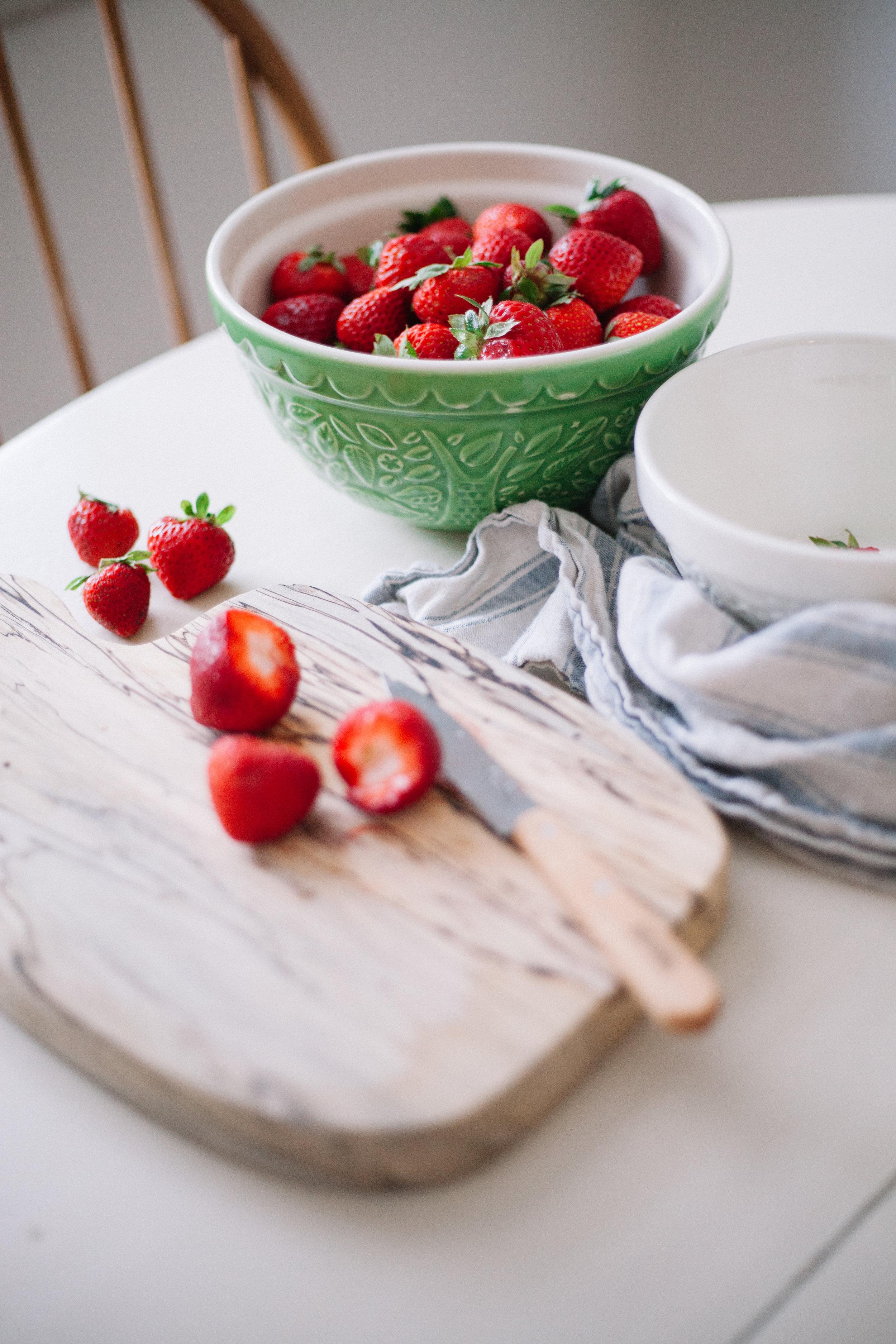 strawberry jam sweetened with honey | marina gunn food